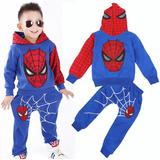 Sudadera Niño Spiderman Hombre Araña Negra O Azul