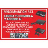 Programacion Ps3 Mas Pack De 800 Juegos Fat, Slim,superslim