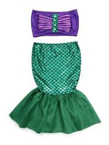 Disfraz Vestido Sirenita Ariel Sirena