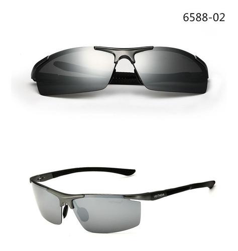 cbe8b38a40 Gafas De Sol Veithdia Lente Plateado Espejo 6588-02