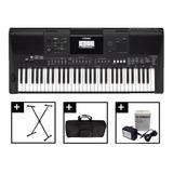 Teclado Piano Yamaha Psr E463 Con Estuche Base Dvd Citimusic