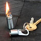 Mini Encendedor Gasolina True Utility Llavero Acero Cepillad