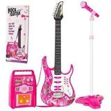 Guitarra Infantil Mas Parlante Amplificador Mas Microfono