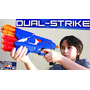 Pistola Nerf Lanzador Dardos Dual Strike Blaster - Original