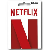 Tarjeta Regalo Netflix $35.000 Región Colombia