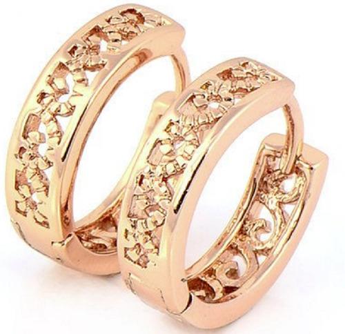 6e90c97c14c1 Envío Gratis Candongas Aretes Baño Oro Rosa 14k Mujer