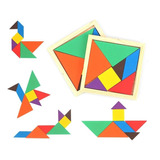 Tangram 7 Piezas Rompecabezas Juego Didáctico + Obsequio