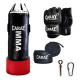 Saco De Boxeo Profesional Con Agarre+guantes Mma+vendascaray