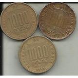 Colombia  Monedas 1000 Pesos 1996,1997,1998