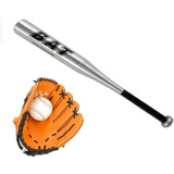 Set Beisbol Infantil Bate Aluminio+guante+ Pelota   Mnr