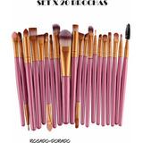Brochas Set X20 Unidades Maquillaje Profesional Originales
