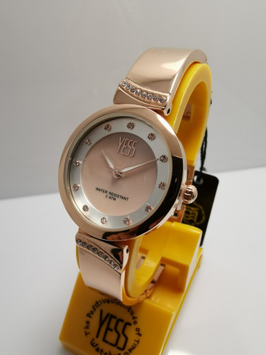 f7a00e1ce8cc Reloj Yess Sml8117 Oro Rosa Mujer Original