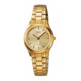 Reloj Casio Ltp-1275g Dorado Mujer Acero 100% Original