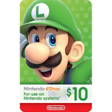 Tarjeta Nintendo Eshop 10 Usd Original Entrega Inmediata