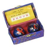 Feng Shui Chino Salud Bolas Azul Con Fenix Y Dragon 38 Cm15