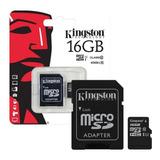 Memoria Micro Sd 16 Gb Kingston Clase 10 Smartphone Tablet