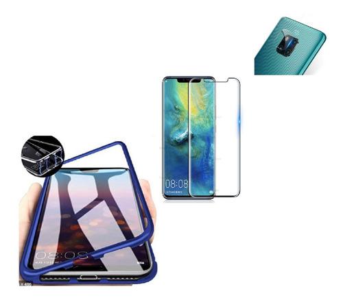 Kit Magnetico Protector Huawei Mate 20 Pro + Vidr 6d + Camar