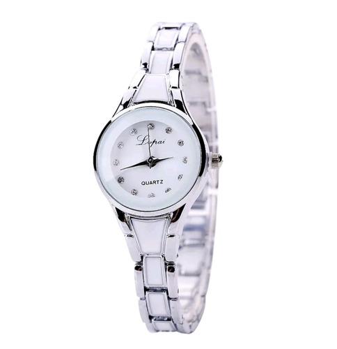 Reloj quartz mujer plateado