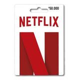Tarjeta Regalo Netflix $50.000 Región Colombia
