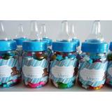 Recordatorio Tetero Baby Shower Frasco Invitacion Botella