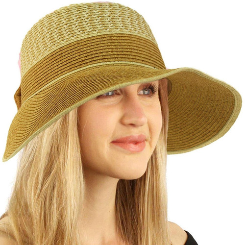 30fc691bad Sombrero Visera 2x1 Playa Sol Viaje Elegante Gorro Ajustable
