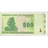 Zimbabwe 500 Dollars 2009 P98