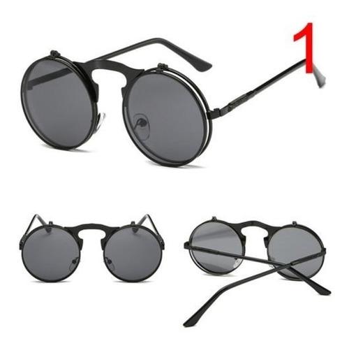 fc37f41e3e Gafas Goticas Redondas Doble Lente Negras Lente Claro Lennon