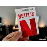 Netflix Giftcard Tarjeta 4k 5 Pantallas 30 Días Renovables