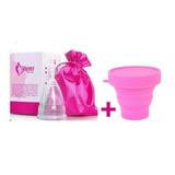 Copa Menstrual Aneer + Vaso Esterilizador + Bolsa De Almacen
