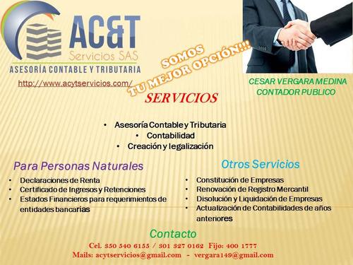 Contador Publico,declaracion De Renta, Certificados Ingresos