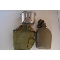 Cantimplora Militar Tactica Con Taza Acero Original Usa