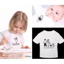 Familia Colombiana Feliz Camiseta 100% Algodón