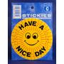 Etiqueta Engomada Sonriente - Amarillo Have A Nice Day Sol S
