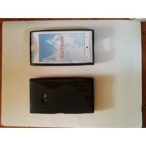 Combo Protector Silicona + Pantalla Uv Para Nokia Lumia N900