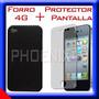 Protector De Pantalla + Forro Iphone 4 Screen Sticker Case