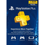 Playstation Plus 1 Año Ps4, Ps3, Psvita, Psp Envio Inmediato