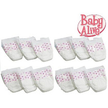 Baby Alive Pañales Double Pack (12 Pañales)