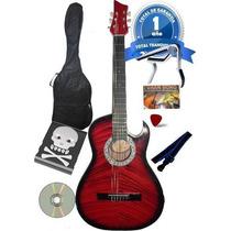 Guitarra +afinador+forro+colgador+pua+dvd+capodastro+bono