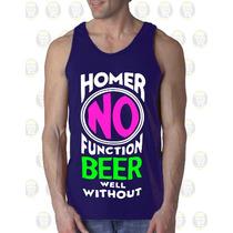Camisilla Hombre Esqueleto Algodon Diseño : Homero Duff Beer