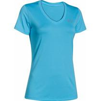 Camiseta - Blusa Under Armour - Dama Color Azul - Blanco