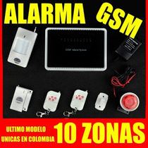 Alarma Inalambrica - Gsm (cuatribanda) Alta Gama - 10 Zonas