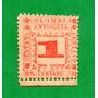 Estampilla Colombia 1 Centavo Antioquia 1901