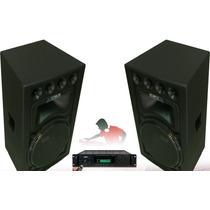 Equipo De Sonido Profesional Spain.amplificador Y Cabinas