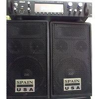 Equipo De Sonido Profesional Spain.amlificador Y 2 Cabinas