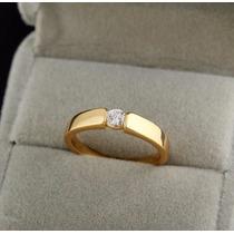 Anillo Compromiso Diamante 0.10ct Certificado Lab.+oro 18k