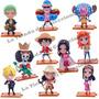 One Piece Figuras Colección 10 Figuras Chibi Con Bases