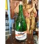 Botella Decorativa Grande De Vino En Vidrio Verde