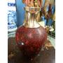 Florero Antiguo Hindu En Bronce Y Oleo