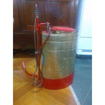 Tanque De Fumigar Antiguo En Bronce Original Perfecto Estado