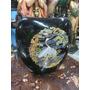Florero Antiguo Japones En Porcelana Pintura Al Oleo